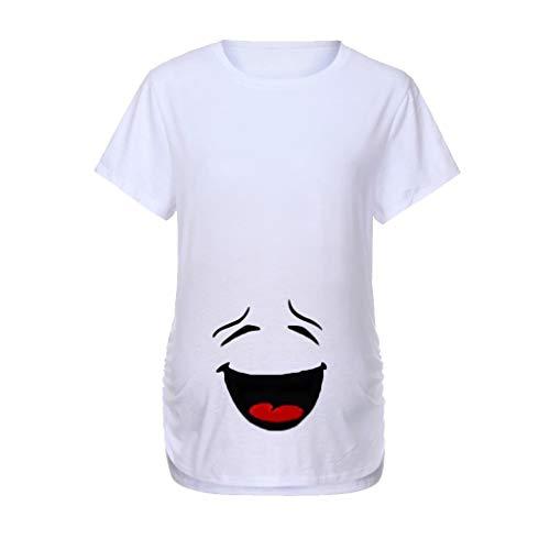 Mitlfuny Ropa premamá Tops Mujeres Embarazadas Maternidad Dibujos Animados Bebe Estampado Camisa Lactancia Camiseta Verano Enfermería Embarazada Manga Corta Elasticidad Tamaño Grande Embarazo Blusa