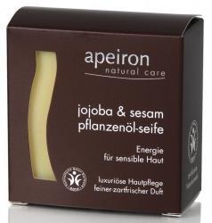 Pflanzenöl-seife (Apeiron - Auromere Jojoba Sesam - Pflanzenöl Seife)