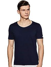 ABOF Men's Solid Regular Fit T-Shirt