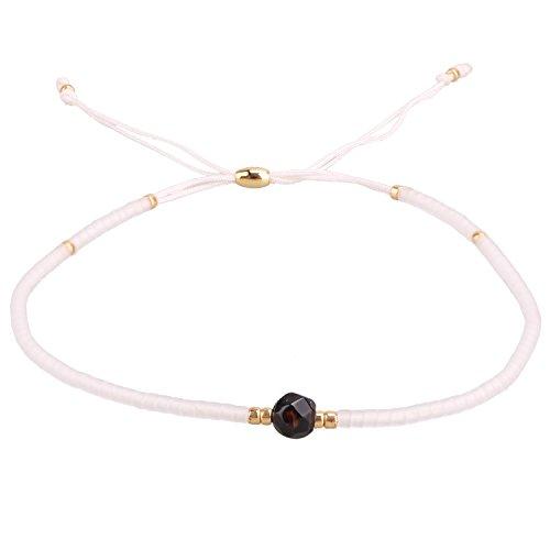 KELITCH Armband Damen Frauen Weiß Rocailles Perlen