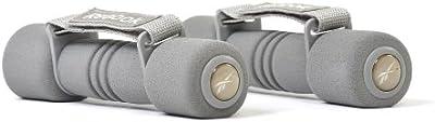 Reebok Softgrip - Pesas de 1 kg para fitness, color gris
