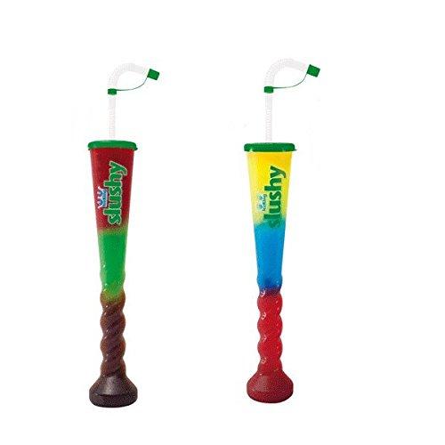 4 Slush Tröten XL inkl. Deckel Squeeze Cup 355 ml - Slush Becher