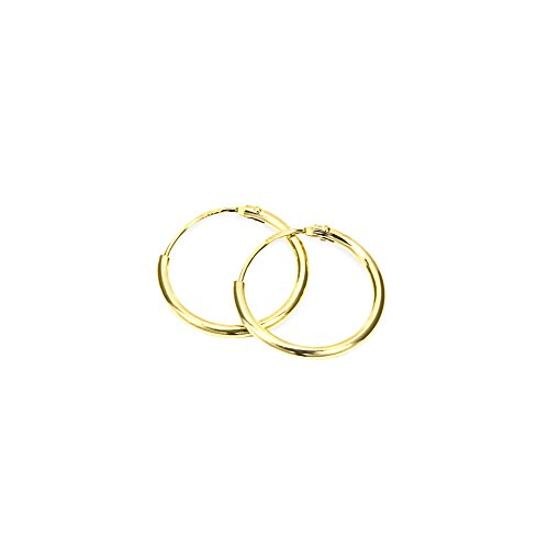 NKlaus PAAR HERREN Creolen ECHT GOLD 333er Ohrring Ohrschmuck Ohrhänger 9 mm 3752