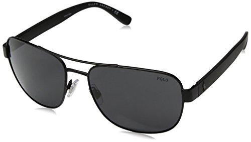 Polo ralph lauren 0ph3101 903887 occhiali da sole, nero (matte black/darkgray), 60 uomo