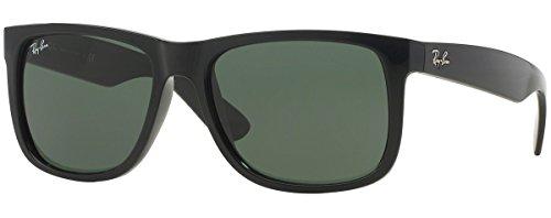 Ray-Ban Justin RB4165 Unisex Classic Sunglasses (54 mm, Shiny Black Frame) Ê