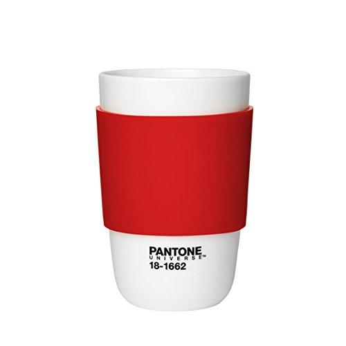 Pantone P10102017 Tasse Porcelaine/Silicone Rouge écarlate