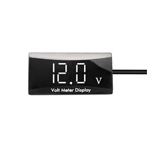 GreatFunAutomobil-Digital-Voltmeter-Digitalanzeige-Voltmeter Automobilmotor, wasserdicht, staubdicht und stoßfest, passend für Automobil und Motorrad