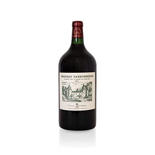Château Carbonnieux Rouge 2015 Doppelmagnum 3L, Pessac-Léognan Grand Cru Classé, Paket mit:1 Flasche