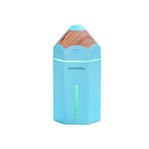 Spa-glas Kerze (LX7 Aromatherapie Essentielle Öl-Diffusor Cool Mist Befeuchter 230Ml Ultraschall-LED-Licht Perfekt Für Zu Hause, Büro, Wohnzimmer, Spa,Blue)