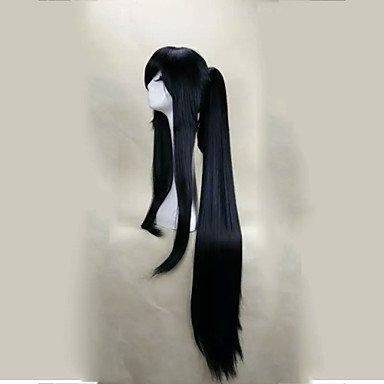 Pferdeschwanz Perücken (HJL-deckellose schwarze Perücke mit Pferdeschwanz 120cm super lange gerade synthetische Haarperücken Klage für Partei ,)