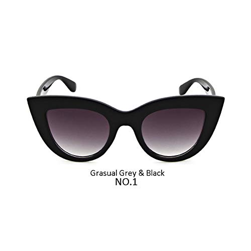 ZHENCHENYZ Frauen Retro Cat Eye Sonnenbrille Nette Festival Brille Dicker Rahmen Rot Blau Klar Cat Eye Sonnenbrille Shades