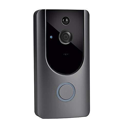 Jamicy Intelligente Türklingel, Wireless Smart WiFi Türklingel Video Visuelle Ring Kamera Intercom Home Security (4 Wireless-kamera-sicherheitssystem)