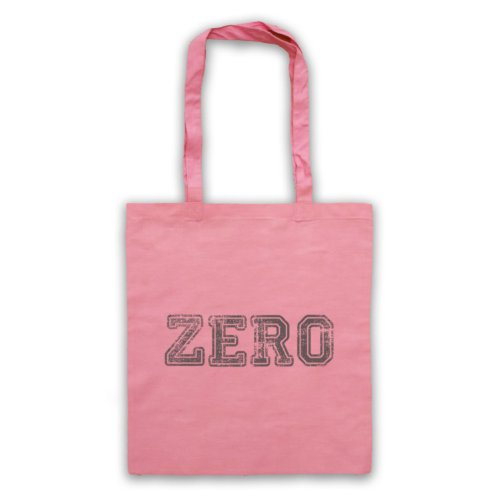 Zero Funny Slogan Tote Bag Rosa
