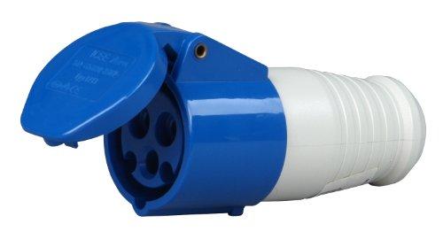 Preisvergleich Produktbild Kopp 182400003 Caravan Kupplung 3-polig,  16 A,  230 V,  blau