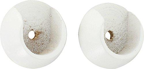 ATELIERS 28 Support Entre-Mur Blanc - Diamètre 20 mm - Vendu par 2