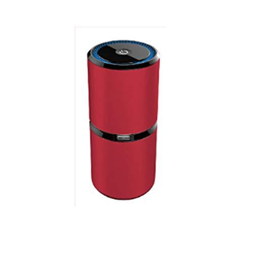 JTQMDD Auto-Luftreiniger Doppel-USB-Auto-Aufladung Sauerstoff-Bar Zusätzlich Zu Rauch Geschmack Auto-Luftreiniger 150 × 65 Mm Autoreiniger (Color : Red)