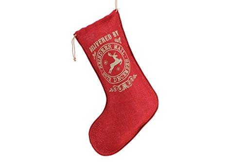 nen Weihnachten Säcke Rustikal Vintage Weihnachtsschmuck Strümpfe Geschenktüten (rot Werden von Rentier) ()