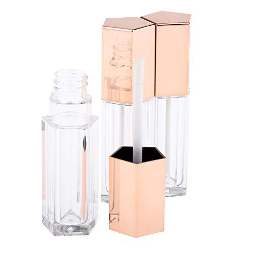 3 Stück 10ml Fläschchen Mini Nachfüllbar Reisen Leer Lip Gloss Flasche Tube Container Lippenstift mit Pinsel