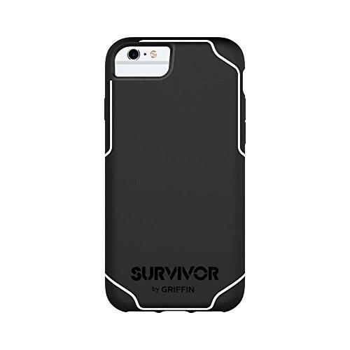 Griffin Survivor Clear Case Schutzhülle für Apple iPhone 7/6s/6 - Gold/Transparent Schwarz/Weiß