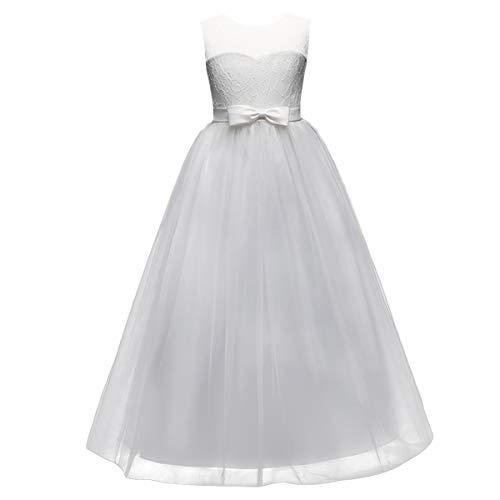 Vestito Elegante da Ragazza Festa Cerimonia Matrimonio Damigella Abito da  Donna Sposa b9de518bf69
