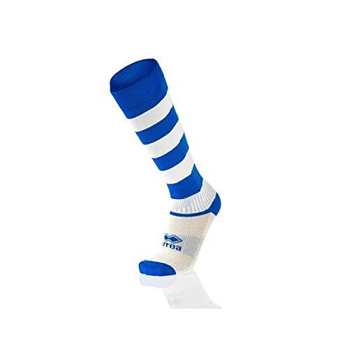 Errea zone calze calzettoni calcio calcetto rugby pallavolo azzurro bianco adulto
