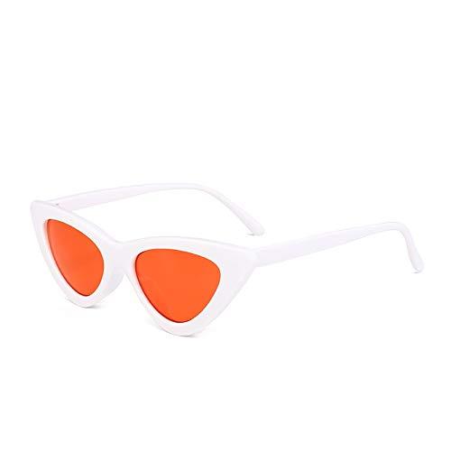 Onizah - neue Art und Weise nette reizvolle Damen Katzenaugen-Sonnenbrille Frauen Weinlese-Marke Klein Sonnenbrillen Weibliches Oculos de sol [Weiß Rot]