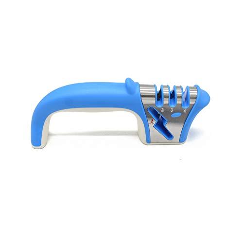 Hombes Professioneller Messerschärfer, manueller 4-in-1-Messer und Scherenschärfer, stabil und schärft brillant mit ergonomischem Griff und exquisiter Delfin-Form. 1