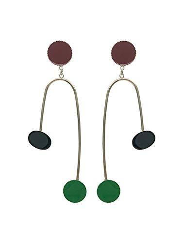 baijuxing Ohrstecker 925 Silber Nadel asymmetrische Ohrringe Farbe Design Sinn Ohrringe Ohrclips...