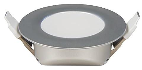 3 x Flache LED Möbeleinbauleuchte Flip IP44 6Watt, Einbautiefe 30mm,Lichtfarbe neutralweiß, 4000 Kelvin, Farbe in Silber 230V