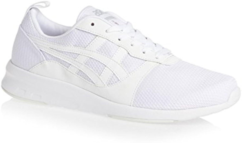 ASICS Hombres Blanco Lyte Jogger Zapatillas-UK 11