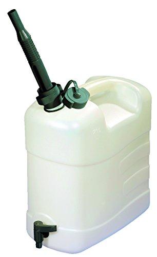 Combi Kanister 15 Liter für Trinkwasser und flüssige Lebensmittel Ausgießtülle und Ablasshahn Camping Outdoor Wandern