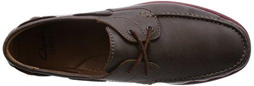Clarks Kelan Step Herren Bootsschuhe Braun (Dark Brown Lea)