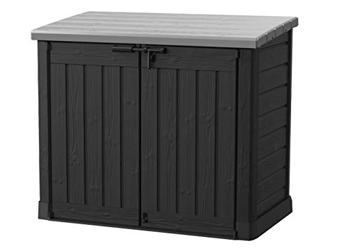 Keter Mülltonnenbox Store it Out Max, Schwarz, 1.200L -