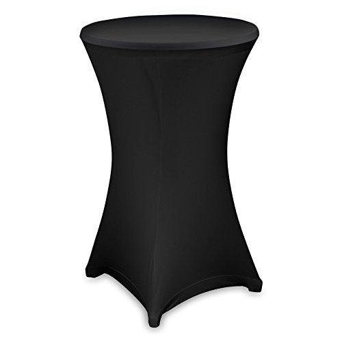 Husse Stehtischhusse Stretch Husse für Stehtisch Bistrotisch 80 cm in schwarz