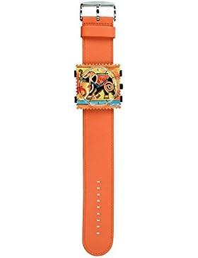 S.T.A.M.P.S. Stamps Uhr komplett - Zifferblatt Holy Elephant mit Lederarmband orange
