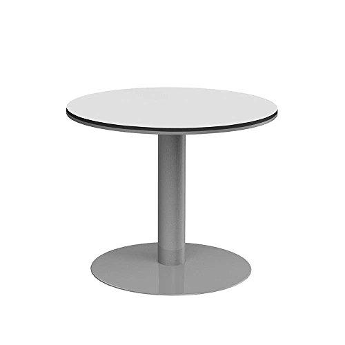 Runder Konferenztisch in Weiß Grau 90 cm Pharao24