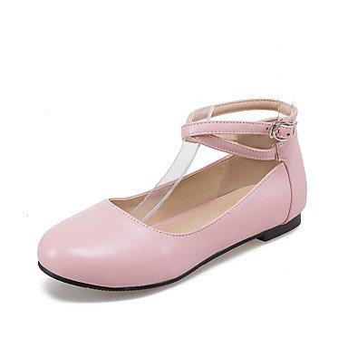 Confortevole ed elegante piatto scarpe donna Appartamenti Primavera Estate Autunno Inverno Comfort similpelle Office & Carriera Abbigliamento Sportivo tacco piatto fibbia Nero Blu Rosa Rosso Bianco Pink