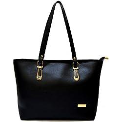 INKDICE Women's Handbag Premium Quality(Black,S1BL)