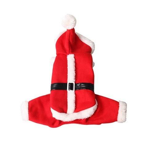WSJF Pet Costume,Haustier Kostüm, Hund Katze Halloween Weihnachten Cosplay Party Kostüm Uniform Kleidung Santa (Size : S)