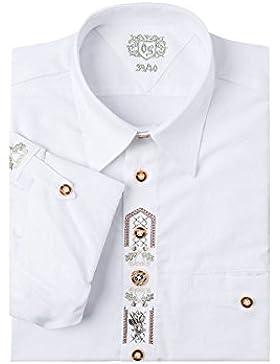 OS-Trachten Herren Trachtenhemd weiß langarm 112611