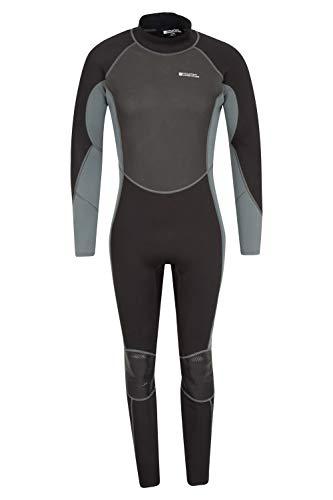 Mountain Warehouse Combinaison de plongée Hommes - Forme sculptée, Coutures Plates, Fermeture réglable au Cou, Combinaison à glissière Facile - pour Le Surf, la plongée Gris Fer M/L
