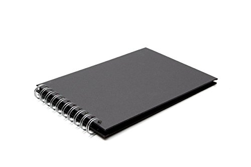 Pink Pig Album für Scrapbooking, A5Querformat, aus Recycling-Papier, 20Blätter schwarz
