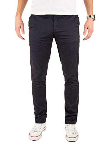 Yazubi Chino Hose Herren Blau - Kyle by Yzb Jeans - Blaues Business Stoff Chinohose für Männer Stretch Chinos, Blau (Night Sky 4R193924), W31/L34
