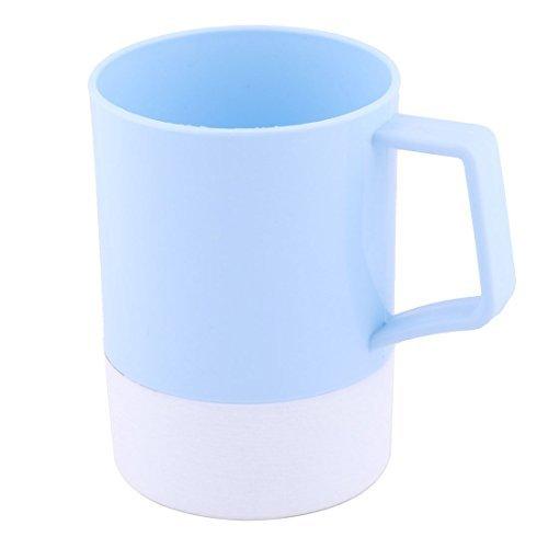DealMux plastique de la maison de course ronde Bouteille d'eau Dentifrice Brosse à dents bagages Gargle Cup Light Blue