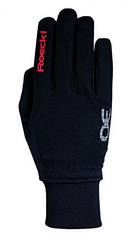 Roeckl Rossa Jr Kinder Winter Fahrrad Handschuhe schwarz/rot: Größe: 5