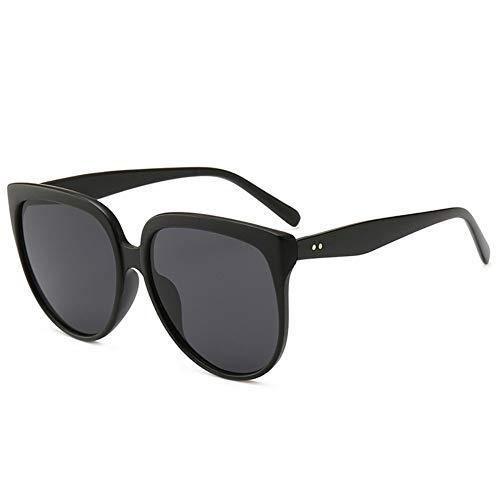 SSXD Sonnenbrillen Sonnenbrille weibliche Retro übergroße Sonnenbrille weibliche Brille Big Box Sonnenbrillen, schwarz