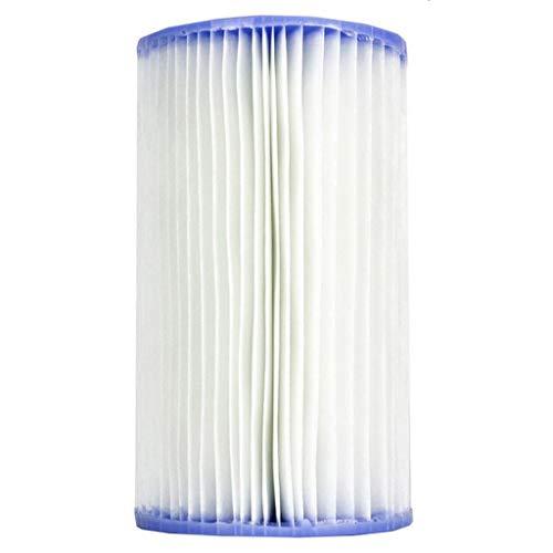 JIJI886 Cartuccia filtrante di tipo A per piscina Easy Set 1PC per pompa filtro Intex 28604 Compatible filter pumps: 28603, 28604, 28635, 28636, 28637, 28638, 28673, 28674 models (bianca)