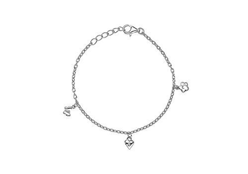 Lily   Lotty for Girls Jessie bracelet - Pulsera de plata de ley con  diamante ( 49e560b2a28