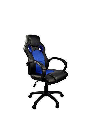 HTI-Line Chefsessel Racingstyle Daytona 2 Bürostuhl Drehstuhl Schreibtischstuhl Gamingstuhl Blau