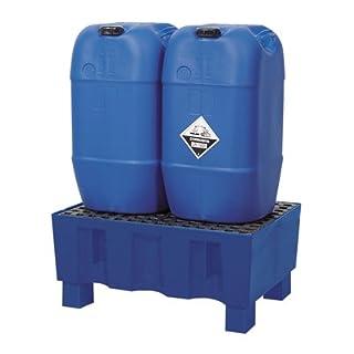 Auffangwanne aus Polyethylen, mit Sockelfüáen,ohne Gitterrost, Auffangvolumen 60 l, BxTxH 725x525x33